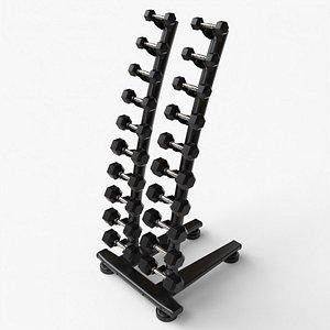 3D model Gym Dumbell Set 004