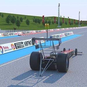 3D Dragway Stadium model