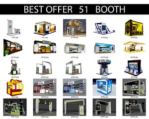 Booth Exhibition Stand X3 3D model