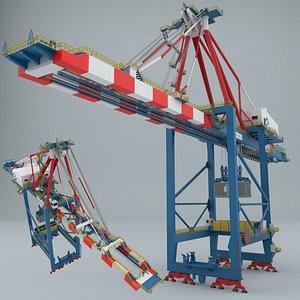 harbor crane contains 3D model