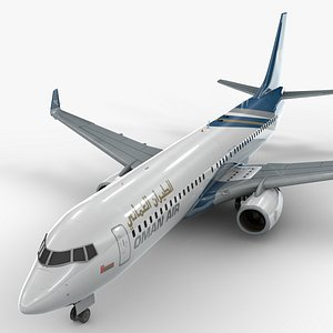 boeing 737-8 oman air 3D model