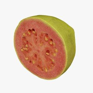 3D model Half a Guava - Extreme Definition 3D Scanned