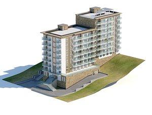 3D Hotel residential building 3d model