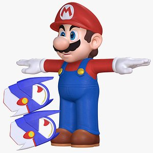 3D Super Mario Character Weapon Sparks of Hope  8K