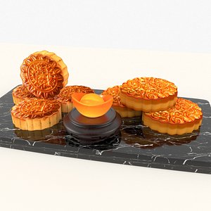 3D chinese moon cake
