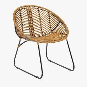 3D Rattan chair Hubsch Lara