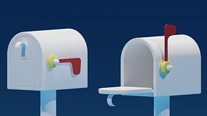 Lovely Cartoon Mailbox 3D