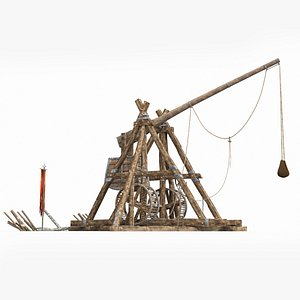 3D large ancient catapults