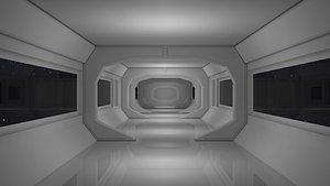 3D corridor sci fi