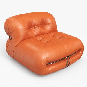 Soriana Lounge Chair Leather AM 3D model