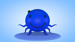 3D oswald cartoon octopus