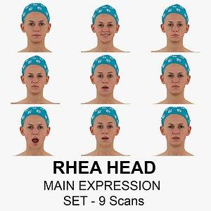 rhea raw scans main 3D model