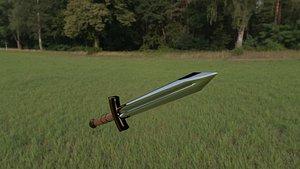 3D short sword model