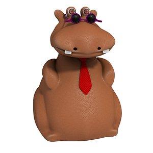 3D Cartoon Hippo