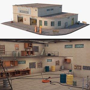 Car Repair Workshop 3D