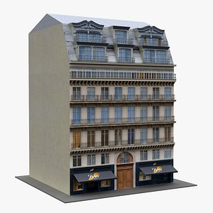 3D model Typical Paris Building