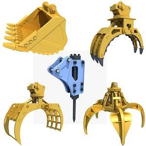 construction industry excavator model