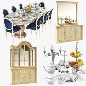 3D Dining Furniture Set