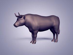 3D Bull Statue - Base Mesh model