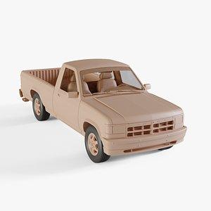 1991 Dodge Dakota regular cab 3D model
