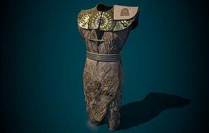 3D kimono ninja model