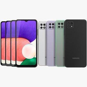 3D Samsung Galaxy A22 5G All Colors