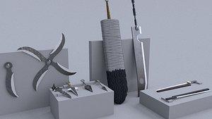ninja weapons 3D