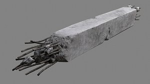 3D concrete column 03