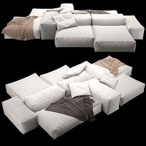 sofa extrasoft 3D model