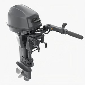 3D Portable outboard boat motor with tiller