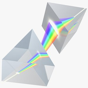 Inverted Prisms Light Spectrum Recombination 3D model