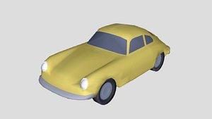 3D porsche 356c 1964 model