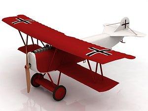 Fokker R VII Aircraft 3D model