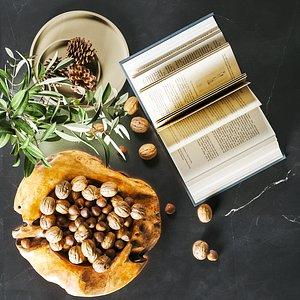 walnut book decoration 3D