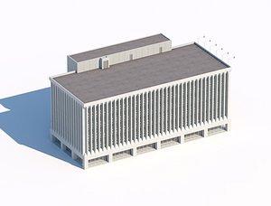 3D administrative city building 3dmodel