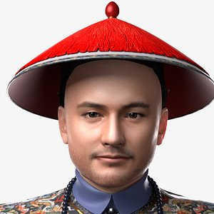 3D Officials of the Qing Dynasty of China model
