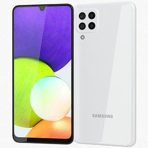 Samsung Galaxy A22 4G White 3D model