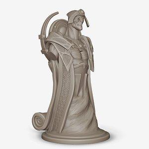 3D Bishop Oracle Dota 2 Chess Piece 3D print model 3D print model model