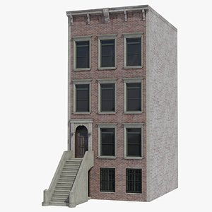 3D american townhouse model