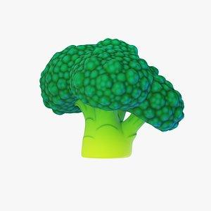 cartoon broccoli 3D model