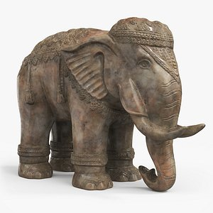 3D model statue elephant