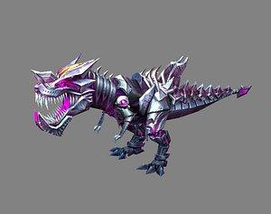 Cartoon robot tyrannosaurus model