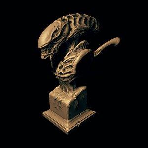 xenomorph bust 3D