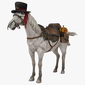 3D Halloween Horse Rigged 3D Model