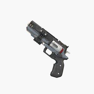 3D Sci-Fi Pistol