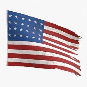 3D model american flag old glory