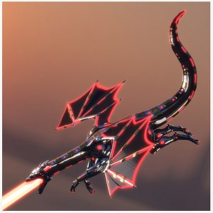 Dragon Robot PBR Fully Rigged 3D model