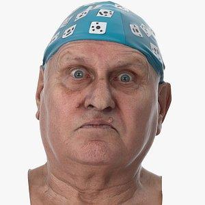 3D Homer Human Head Upper Lid Raiser AU5 Clean Scan