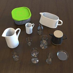 3D pack kitchen model