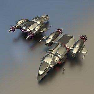 gunship weapon sendercorp 3D model
